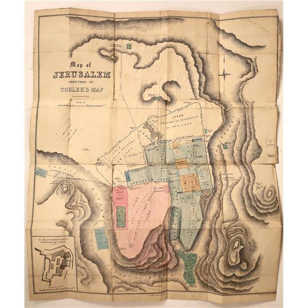 Early c1840 Map of Jerusalem  [130123]