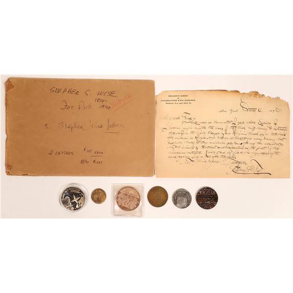 Handwritten Letter by Jewish Activist & Medals  [131981]