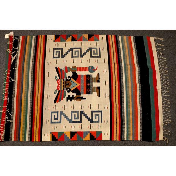 Mayan Zapotec Mexican Blanket / Wall Hanging  [133757]