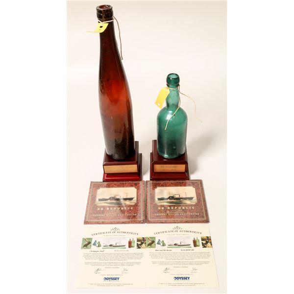 Sunken Treasure Bottles From SS Republic ShipWreck (2)  [132333]