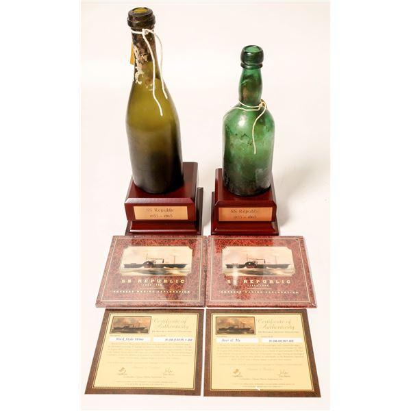 Sunken Treasure Bottles From SS Republic ShipWreck (2)  [132334]