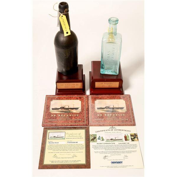 Sunken Treasure Bottles From SS Republic ShipWreck (2)  [132335]