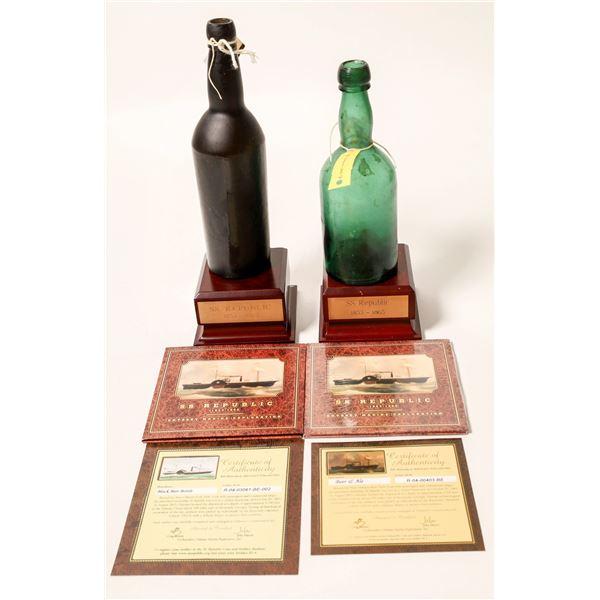 Sunken Treasure Bottles From SS Republic ShipWreck (2)  [132336]