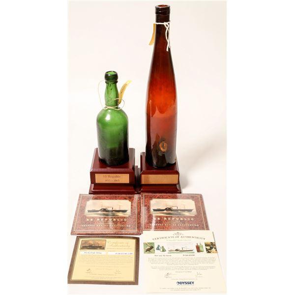 Sunken Treasure Bottles From SS Republic ShipWreck (2)  [132337]