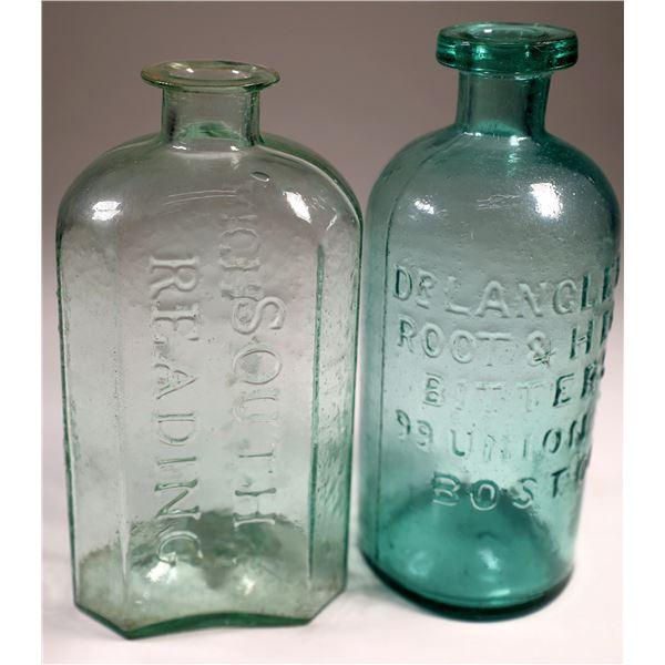 Early Aqua Eastern Bitters Bottles (2 Each)  [131896]