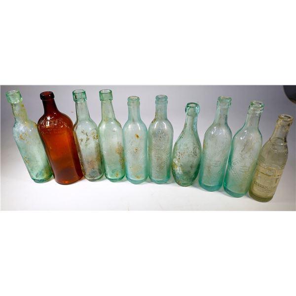 Antique Round Bottom Soda Bottle Group (26)  [132470]