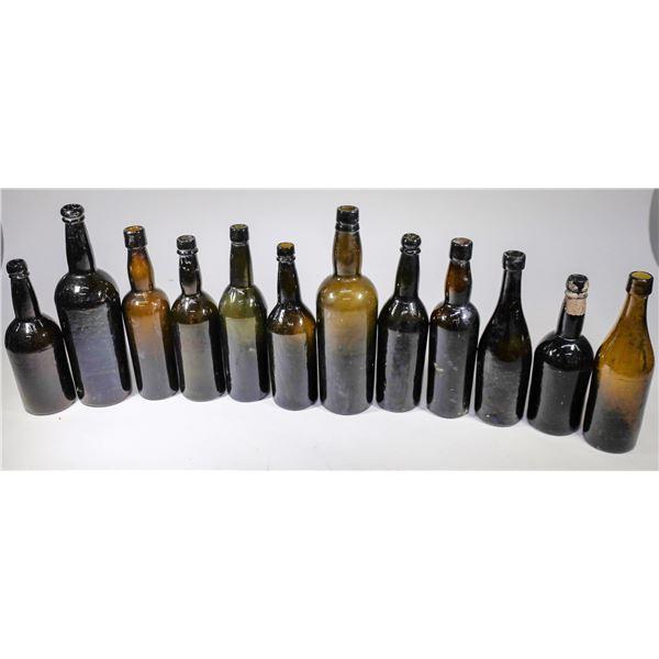 Black Glass Bottles Found in Virginia City  (12)  [132469]