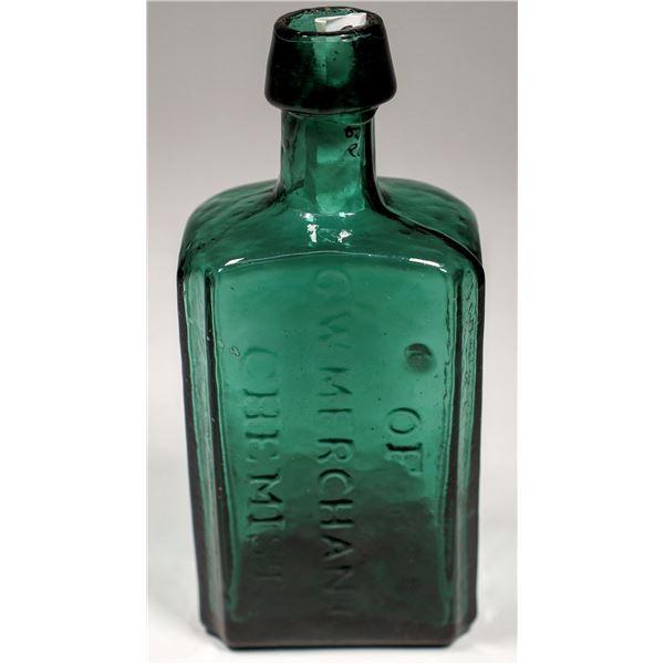 """Medicine Bottle """"Merchant"""" in Deep Teal  [132360]"""