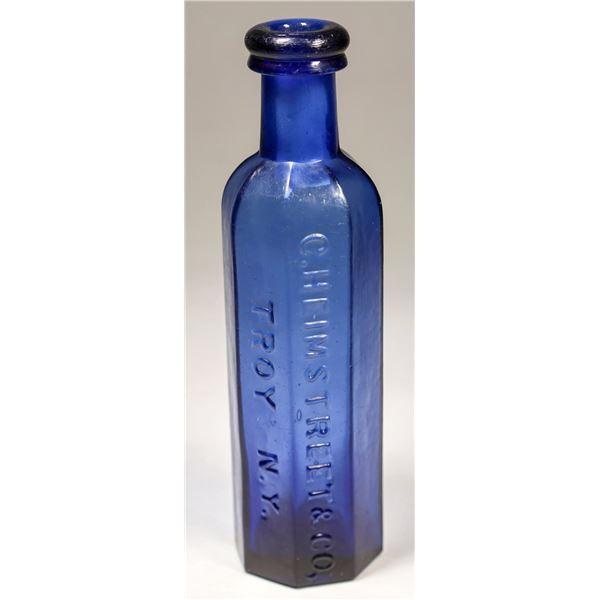 Heimstreet & Co, Troy, N.Y. Cobalt Medicine Bottle  [131897]