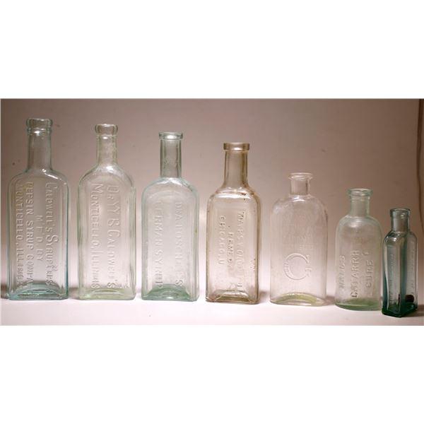 Beginner Medicine Bottle Lot (7 pieces)  [77434]