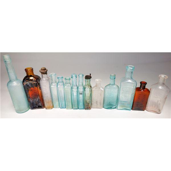 Antique Medicine Bottle Group (Lot of about 26)  [132466]