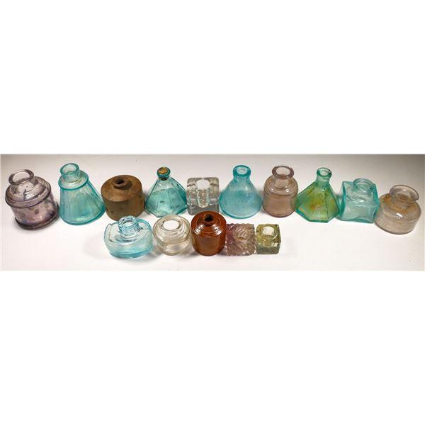 Antique Ink Bottle Collection  (15)  [132474]