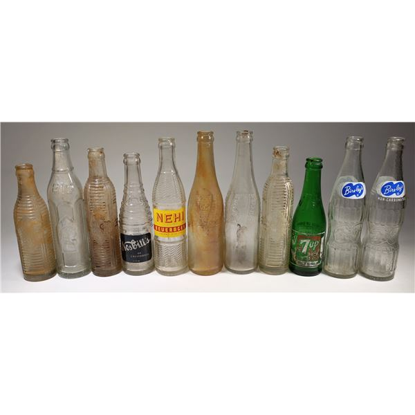 Modern Crown Top Painted Label Soda Bottle Collection  [132215]
