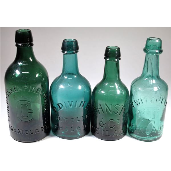 Mineral Water Bottle Group in Green (4)  [132330]