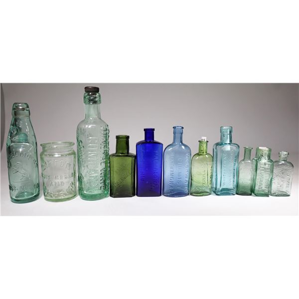 Embossed English Antique Bottle Collection (23)  [132276]