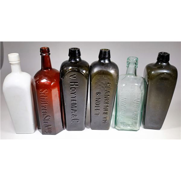 Gin Bottle Collection (6), c1860-1910  [122816]
