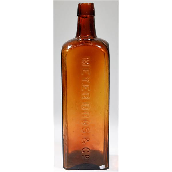 """Meyer Bros. & Co. Square Amber """"Bitters""""  [122817]"""
