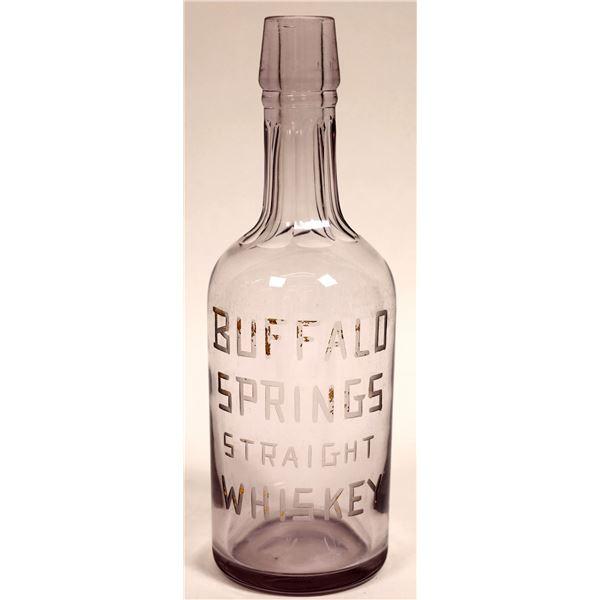 Buffalo Springs Straight Whiskey Back Bar Bottle  [132897]