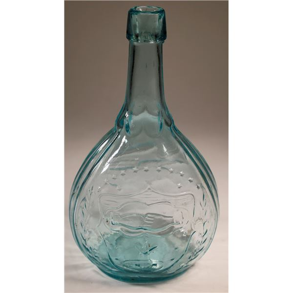 Civil War Clasped Hands Union Eagle Flask  [132331]
