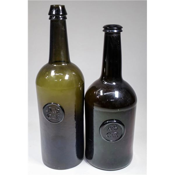 Oxford, All Souls Common Room, Applied Seal Whiskey Bottle Pair   [132328]