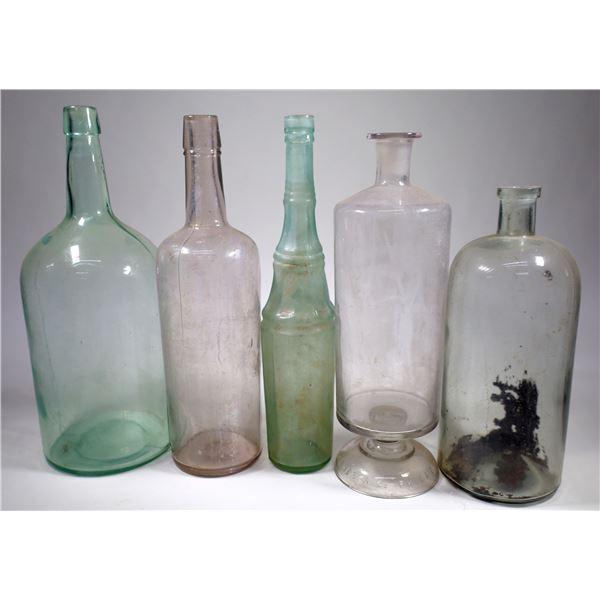 Antique Bottle Group (5)  [132476]