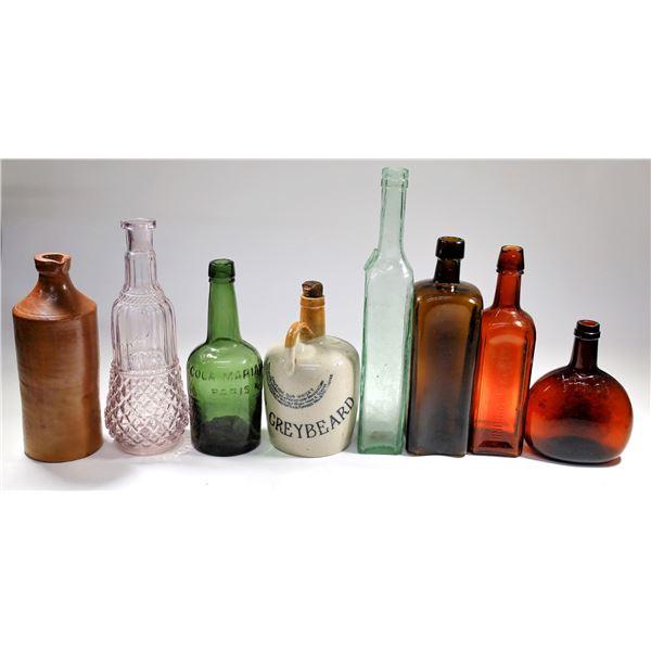 Varied Antique Bottle Collection (18)  [122818]