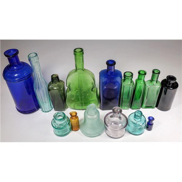 Colorful Antique Bottle Collection (15)  [131890]