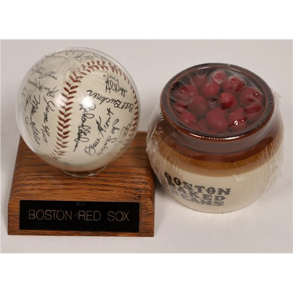 Autographed Boston Red Sox Baseball and Boston Baked Beans  [132548]