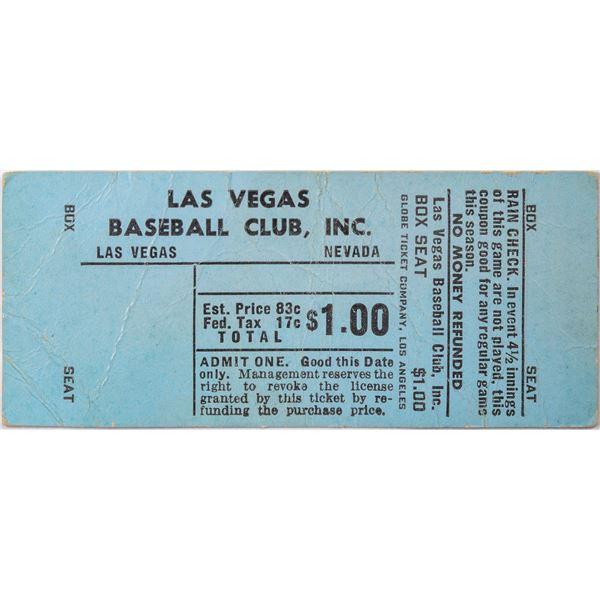 Las Vegas Baseball Club $1.00 Ticket  [130130]