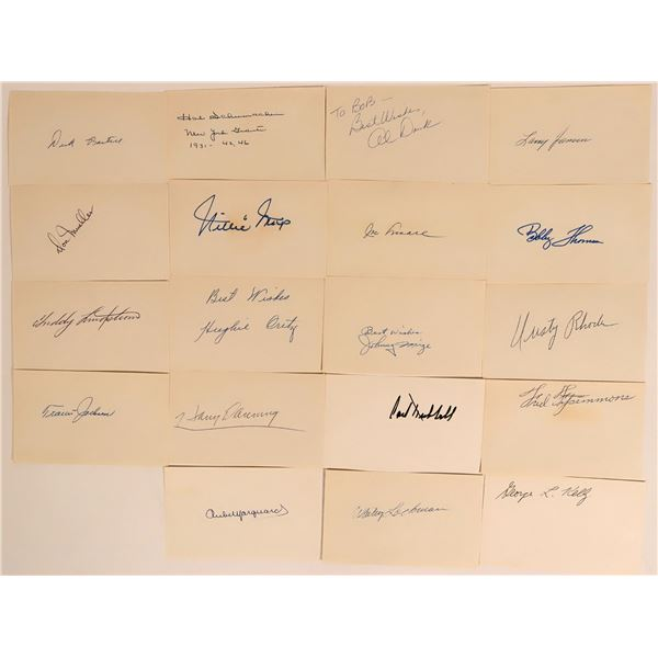 New York Giants Autographs including Willie Mays  [135489]