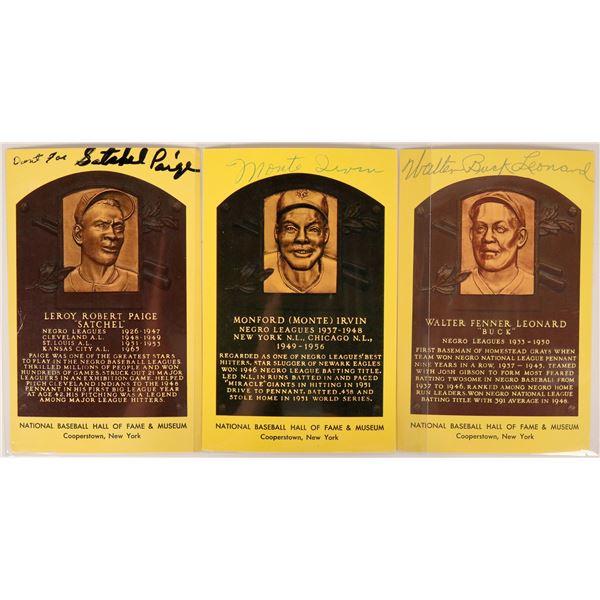 Autographed Negro League HOF Postcards  [135490]