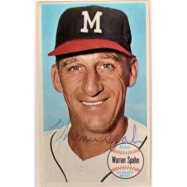 Autographed Warren Spahn 1964 Topps Large Baseball Card  [135498]