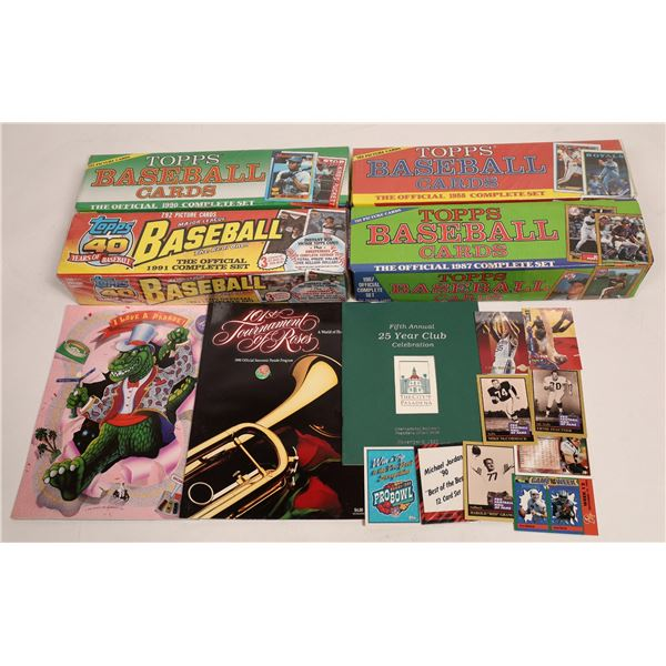 Topps Baseball Cards Complete Sets  [132547]