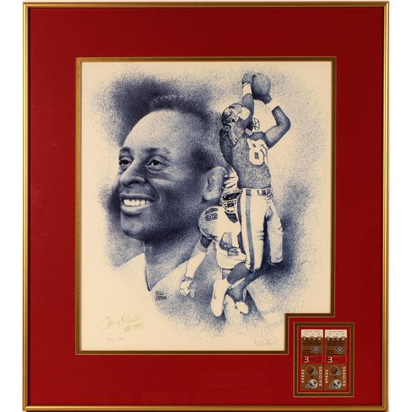 Print of Jerry Rice by Bill Dotson  [125154]