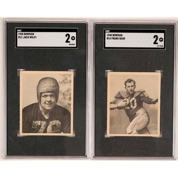 Two 1940's Football Player Trading Cards  [135499]