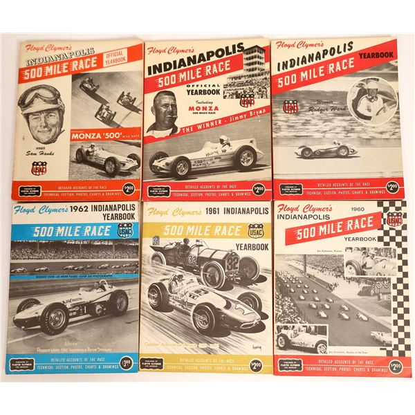 Indianapolis 500 Mile Race Official Yearbooks (6)  [132344]