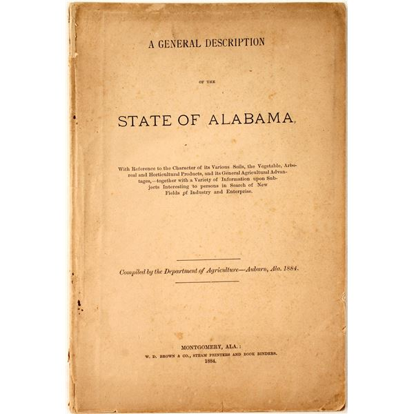 """A General Description of the State of Alabama"""" 1884  [135366]"""
