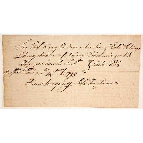 Andrew Kingsbury, CT Treasurer Signed Doc  [135446]