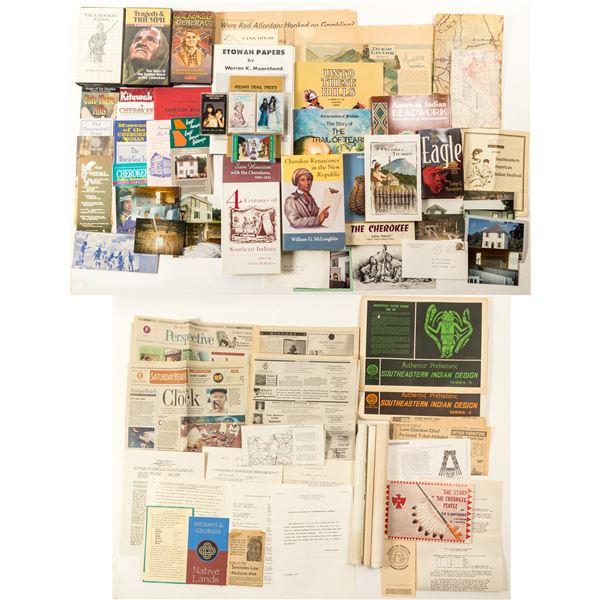 Misc. Cherokee Ephemera, Books, VHS Tapes  [135581]