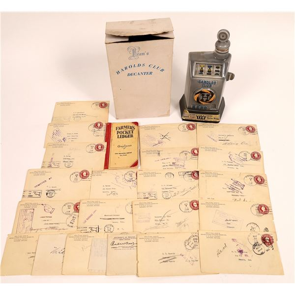 Nevada Ephemera Collection & Decanter  [131414]