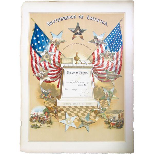 Brotherhood of America Enrollment Print  [85164]