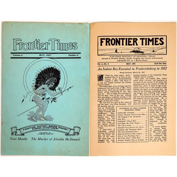 Frontier Times History Magazine May 1927 Issue  [132096]