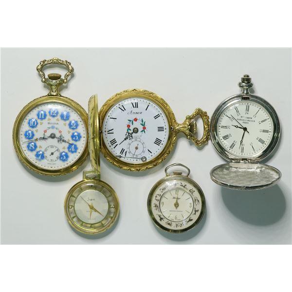 Five modern Pocket Watches  [135529]