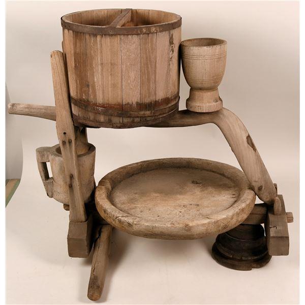 Antique Wood Cider Press  [117077]
