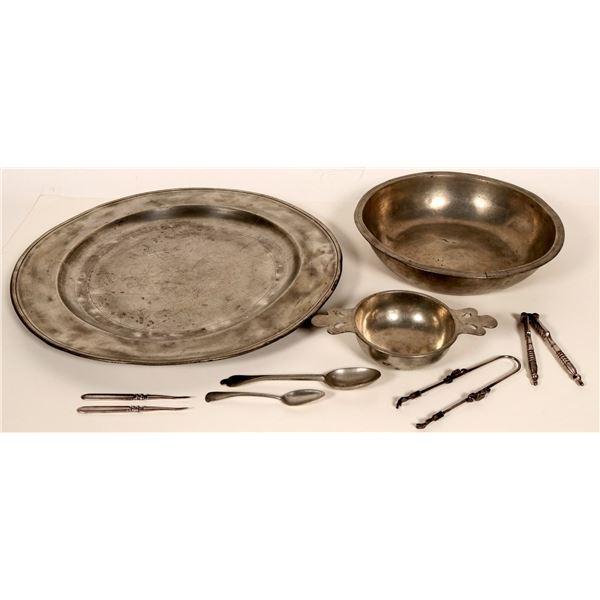 Antique London Pewter Pieces, Etc.  [109766]