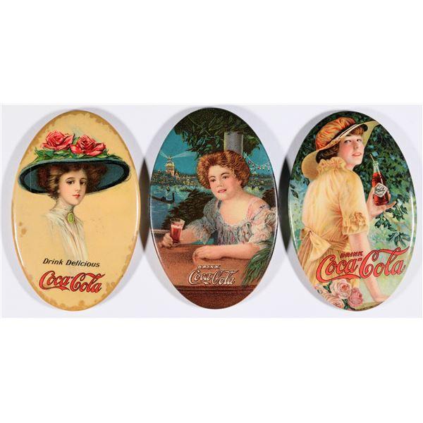 Coca Cola Advertising Pocket Mirrors - 3 [131229]