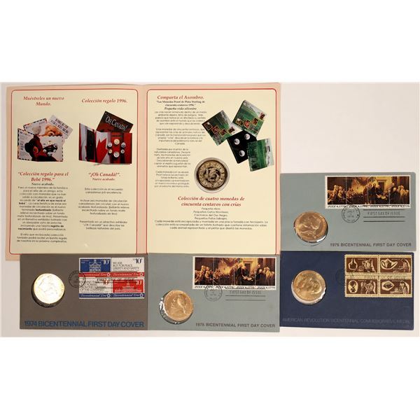 Bicentennial First Day Covers & Mexican Medallion  [132117]