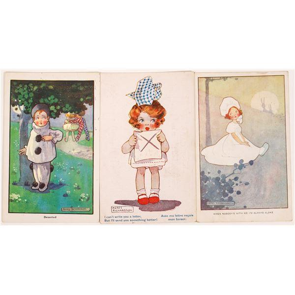 Agnes Richardson Art Cards of Little Girls (3)  [135525]