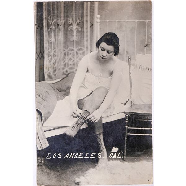 Real Photo Postcard of a Lady of Questionable Character  [129320]