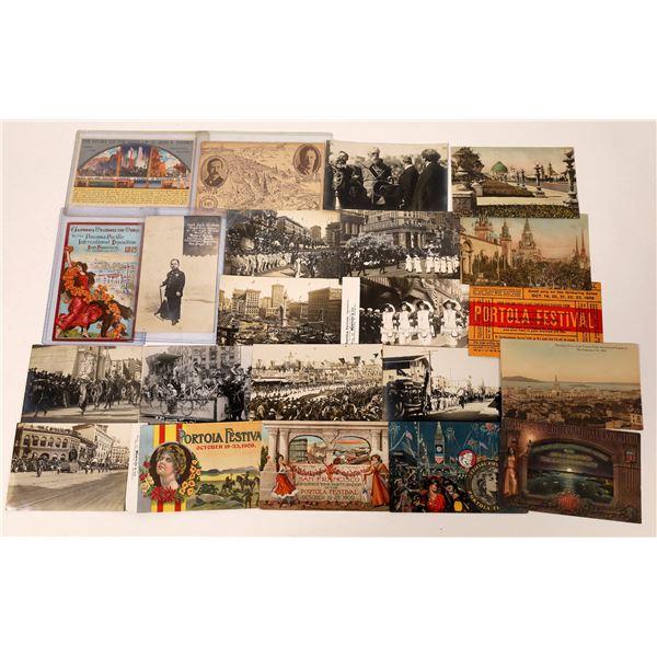 California Exposition Postcards: PPIE, Portola, GGIE  [131822]